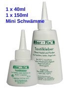 ber-fix – Fabric Glue Washable at 95 °, Resistant to ironing A 180 °, NON-IRON), 0738076514618_40ml_fba-