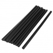 10 Pcs 7mm Diameter 190mm Length Solder Iron Black Hot Melt Glue Stick