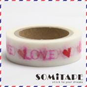 Love And Hearts Washi Tape, Craft Decorative Tape