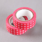 White Star On Red Washi Tape, Craft Decorative Tape by SHOKK™
