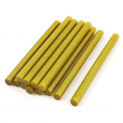 12 Pcs Gold Tone Glitter Hot Melt Glue Gun Adhesive Sticks 11x150mm