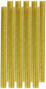 10 Pcs Gold Tone Glitter Hot Melt Glue Gun Adhesive Sticks 11x150mm