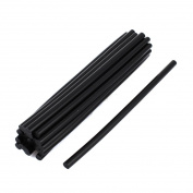 24 Pcs 7mm Diameter 190mm Length Solder Iron Black Hot Melt Glue Stick
