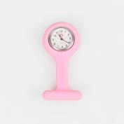 A-szcxtop™ Nurses Fob Watch Brooch Pink Silicon Gel Fob Watches