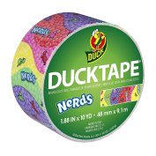 ShurTech Duck Brand 283171 Nerds Printed Duct Tape, 4.8cm X 10 Yards, Single Roll