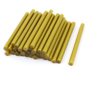 35 Pcs Gold Tone Glitter Hot Melt Glue Gun Adhesive Sticks 11x150mm