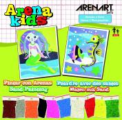 Arena Kids 25 x 19 cm Mermaid and Sea Life Sand Art Painting Kits, Lime Green