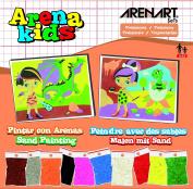 Arena Kids 25 x 19 cm Stone Age Sand Art Painting Kits, Orange