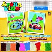 Arena Kids 25 x 19 cm Cars Sand Art Painting Kits, Yellow