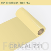 Oracal 751 Self-Adhesive Foil Glossy for Cars or Furniture 31 cm Roll 5 m, beige-brown, 5m (Laufmeter) x 31cm