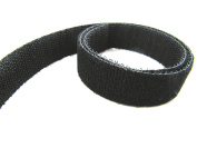 Double sided Hook and Loop Tape, 5 metres, Black, 20mm Wide