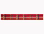 10mm Printed Christmas Red Tartan Satin Ribbon - 3m Reel