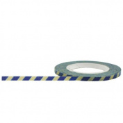 Decorative Paper Tape 3 mm x 15 m Little B Stripes Tape, Blue/ Antique