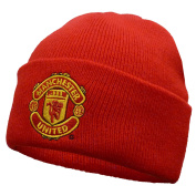 Manchester United FC Official Gift Knitted Bronx Beanie Hat