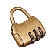 MagiDeal Vintage Bag Style 3 Combination Password Travel Luggage Security Lock