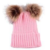 DIKEWANG Newborn Toddler, Kids, Baby Boy Girl, Infant Hat Beanie Toddler Girls Photography Props Hats Warm Winter Knitted Wool Warmer Cap Hemming Hat