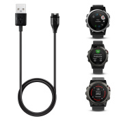 TUSITA Charger For Garmin Fenix 5 5S 5X /Forerunner 935/Approach S60/Quatix 55Sapphire/Vivoactive 3/Vivosport/D2 Charlie/Impact Replacement USB Data Sync Charging Cable Wire Cord