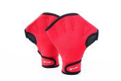 Pure2Improve Unisex Pure 2 Piece Swim Gloves, Red, Medium