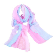 Keepwin Womens Fashion Gradient Colour Long Scarf - Classic Ombre Shawl Wraps for Beach Party