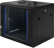 "9U 19 inch - 19"" Server rack cabinet with glass door (WxDxH) 600x450x500mm - NEW! 19Power GmbH"