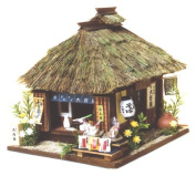 Noodle shop 8617 of Billy handicraft doll's house kit highway series Aizu highway Ouchi-juku