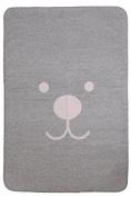 Meyco Baby Blanket 1551148 Premium Design 120 x 150 cm, Pink/Grey
