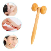 SMILEQ Mini Portable Wooden Roller Health Massager Reflexology Hand Foot Body Stress Relief Relax New