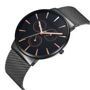 Simple Fashion Casual Watch Quartz Movement Ultra - Thin Waterproof Watch Pointer Display