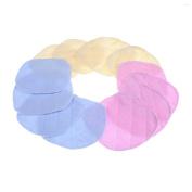 12 Pieces Breastfeeding Pads Washable Organic Bamboo Nursing Bra Pads