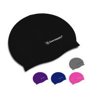 Swimtastic Silicone Swimming Cap for Kids & Adults