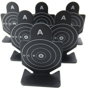 Airsoft magic Full Metal A Brave Warrior Shooting Targets 6 pcs for AEG GBB Airsoft – Black