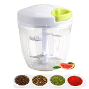 Tatuer Manual Food Chopper 5 Blades 6 Cups Large Capacity Upgraded Hand Held Vegetable/Meat/Fruit Slicer or Blender in Cooking