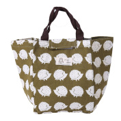 Elistelle Hedgehog Forest Printing Portable Tote Thermal Insulated Lunch Box Bag Cooler Picnic Pouch Storage