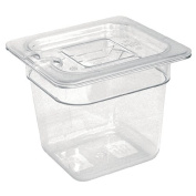 Vogue 1/6 Gastronorm Container 100mm 1.05 Litre Clear Catering Food Storage Pan