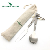 Boundless Voyage Titanium Dinner Fork Camping Outdoor Flatware