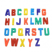Magnetic Base Plastic English Letters Alphabet Fridge Stickers 26 Pcs