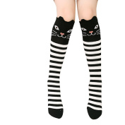Fletion High Knee Socks Thigh Long Stockings with Animal Pattern