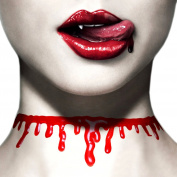 Paialco Women's Horror Blood Drip Choker Creepy Necklace for Halloween