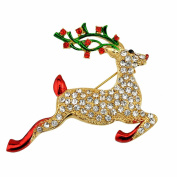 Culater® Multi-Coloured Crystal Christmas Tree Brooch Pin Christmas Gifts