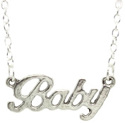 Bluebubble BABY LOVE Silver Word Necklace With FREE Gift Box