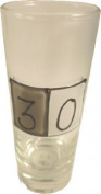 30th Birthday Grey Sq Shot Glass