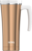 Thermos Stainless Steel Travel Mug, Rose Gold, 470ml