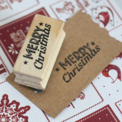 East Of India Merry Christmas Rubber Stamp