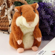 Vi.yo Talking Hamster Plush Toys Cute Mimicry Animal Toy Repeats What You Say Electronic Buddy Mouse for Kids