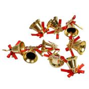 HUHU833,9Pcs Christmas Tree Hanging Jingle Bells Pendant Party Decoration Ornaments Xmas