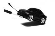 RIDAZ - Ford Mustang GT Kids Travel Suitcase / Storage Case - Black