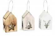 Small Foot Christmas Motif Wooden Lanterns, Nature