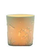 "Plaristo Kerzenfarm ""Bellflower"" Votive Porcelain Tealight Cup, White, 6 cm High"