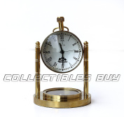 Royal Unique Mini Compass With Table Clock Nautical Brass Collection Gifts