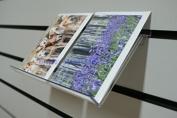 Clear Sloping Acrylic Slatwall Shelf Shelving 240mm x 123mm